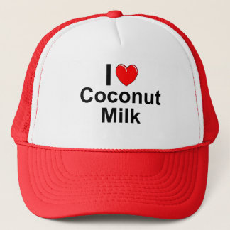 Boné Eu amo o leite de coco do coração