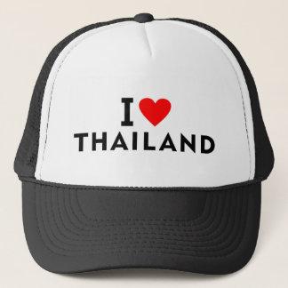 Boné Eu amo o país de Tailândia como o turismo do