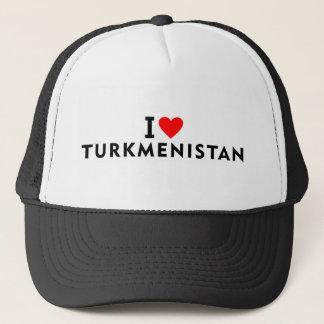 Boné Eu amo o país de Turkmenistan como a excursão do