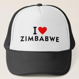 Boné Eu amo o país de zimbabwe como o turismo do viagem