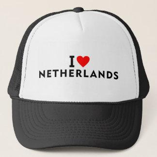 Boné Eu amo o país holandês como o touri do viagem do