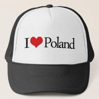 Boné Eu amo o Polônia