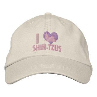 Boné Eu amo o rosa de Shih Tzus