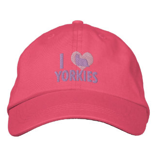 Boné Eu amo o rosa de Yorkies