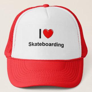 Boné Eu amo o Skateboarding do coração
