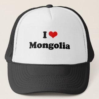 Boné Eu amo o Tshirt de Mongolia