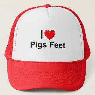 Boné Eu amo os pés dos porcos do coração
