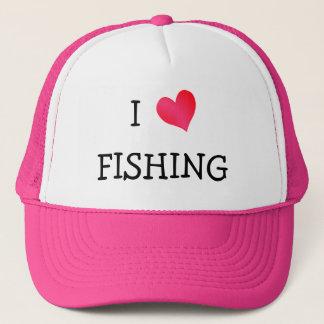 Boné Eu amo pescar