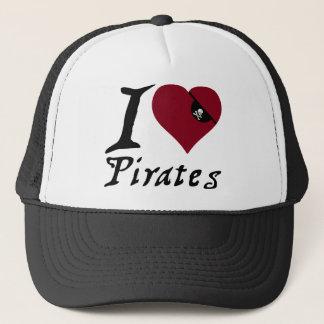 Boné Eu amo piratas (do coração)