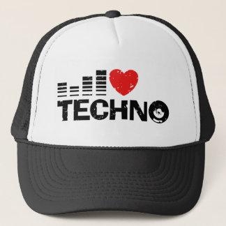 Boné Eu amo Techno