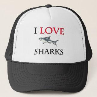 Boné Eu amo tubarões