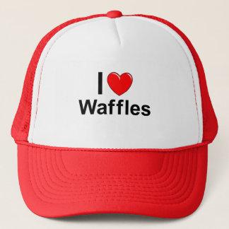 Boné Eu amo Waffles do coração