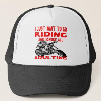 Boné Eu apenas quero ir montar e ignorar todo o