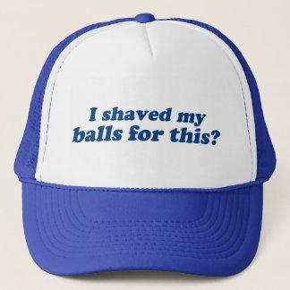 Boné Eu barbeei minhas bolas para este?
