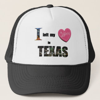 Boné Eu deixei meu coração em Texas - ame o chapéu do