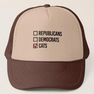 Boné Eu escolho gatos sobre a política - -