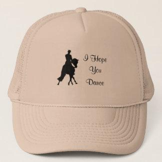 Boné Eu espero-o chapéu do cavalo do adestramento da