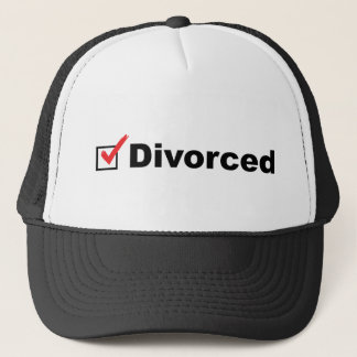 Boné Eu estou divorciado e disponível