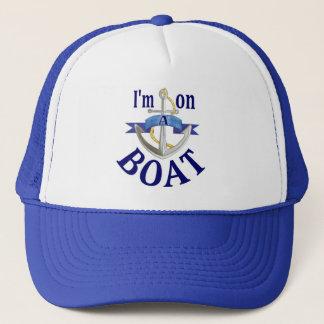 Boné Eu estou em um barco que digo o chapéu azul do