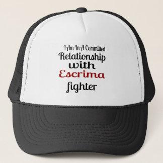 Boné Eu estou em uma relação cometida com Escrima Figh