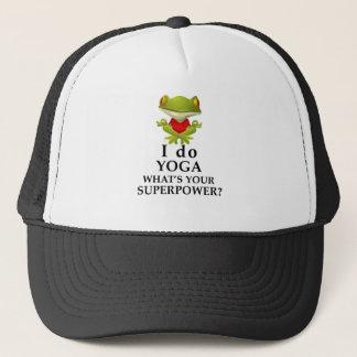 Boné eu faço a ioga que s seu poder super