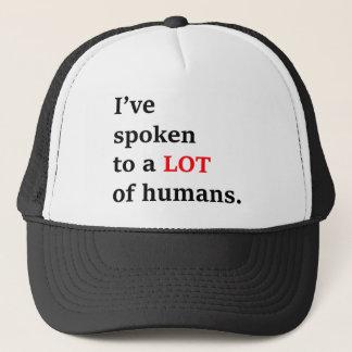 Boné Eu falei a muitos seres humanos