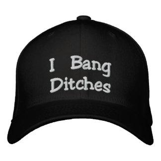 """Boné """"Eu golpeio chapéu bordado preto de Flexfit das"""