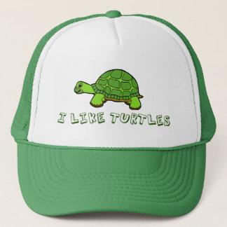 Boné Eu gosto de bonito verde das tartarugas
