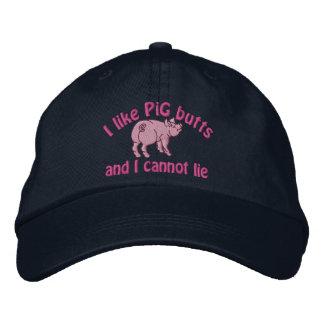 Boné Eu gosto do bacon dos bumbuns do porco e deste