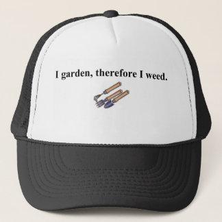 Boné Eu jardino conseqüentemente