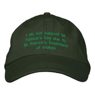 Boné Eu não apoio o dia de St Patrick devido a St. Patr