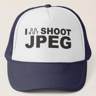 Boné Eu não disparo no JPEG