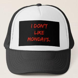 Boné Eu não gosto do chapéu do camionista de