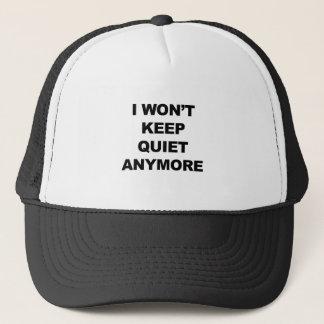 Boné Eu não manterei o silêncio Anymore