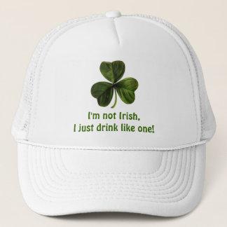 Boné Eu não sou irlandês, mim apenas bebo como um!