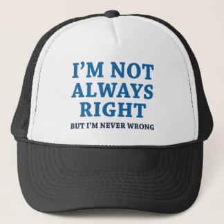 Boné Eu não sou sempre direito
