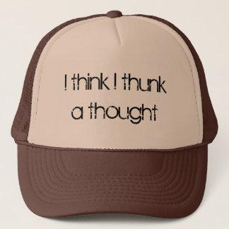 Boné Eu penso o thunk de I um pensamento