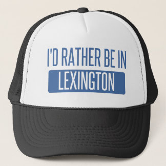 Boné Eu preferencialmente estaria em Lexington