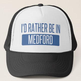 Boné Eu preferencialmente estaria em Medford OU