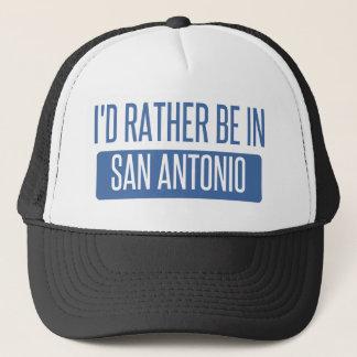 Boné Eu preferencialmente estaria em San Antonio