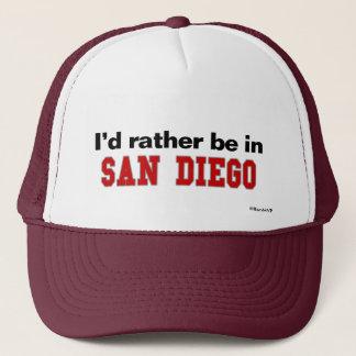 Boné Eu preferencialmente estaria em San Diego