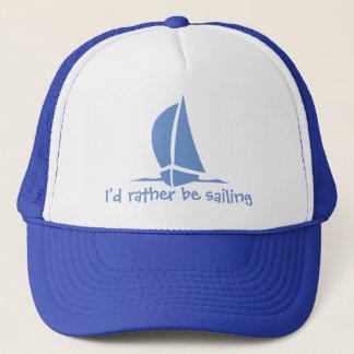 Boné Eu preferencialmente estaria navegando. Um chapéu