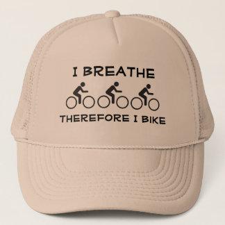 Boné Eu respiro, conseqüentemente eu bike