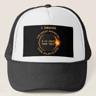 Boné Eu sobrevivi ao eclipse solar total 8.21.2017 EUA