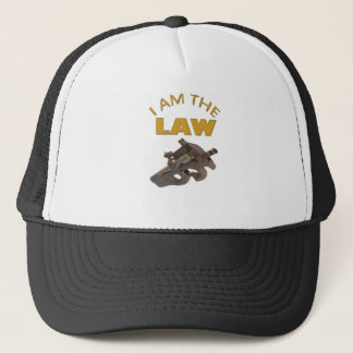 Boné Eu sou a lei com uma metralhadora m4a1