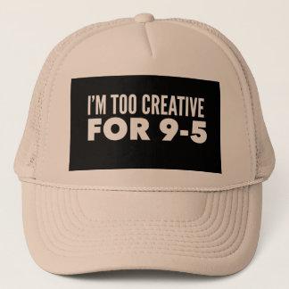Boné Eu sou demasiado criativo para 9-5