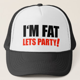 Boné Eu sou FAT deixo o optimismo do excesso de peso do 3ece4ffb9e2