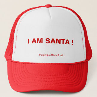 Boné EU SOU PAPAI NOEL! , é apenas um chapéu diferente