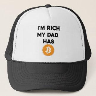 Boné Eu sou rico - meu pai tem Bitcoin
