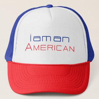 Boné Eu sou um chapéu americano do camionista